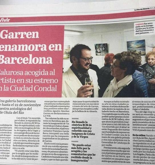 Periodico LA VOZ DE ALMERIA articulo sobre GARREN en BCM ART GALLERY