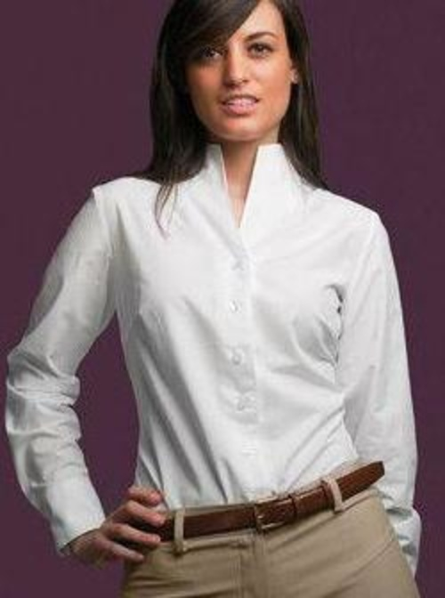 Blusa de señora cuello chimenea