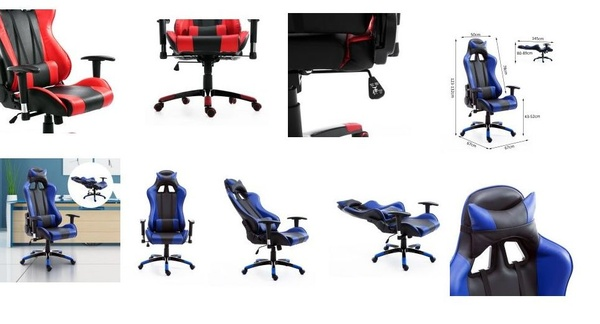 hjh OFFICE 625200 SILVERSTONE - Silla Gaming y oficina.Color azul