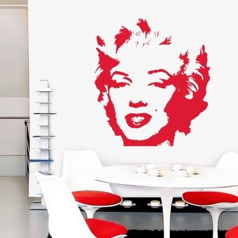 Wall sticker vinilo decorativo Marilyn en Barcelona