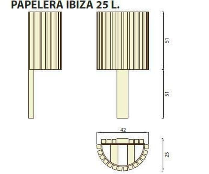 Papelera Ibiza 25l: ¿Qué podemos ofrecerte? de CM PLASTIK RECYCLING