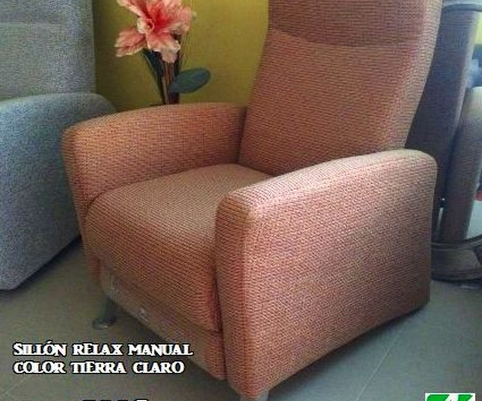 Sillón relax manual color tierra claro OFERTA: 300€