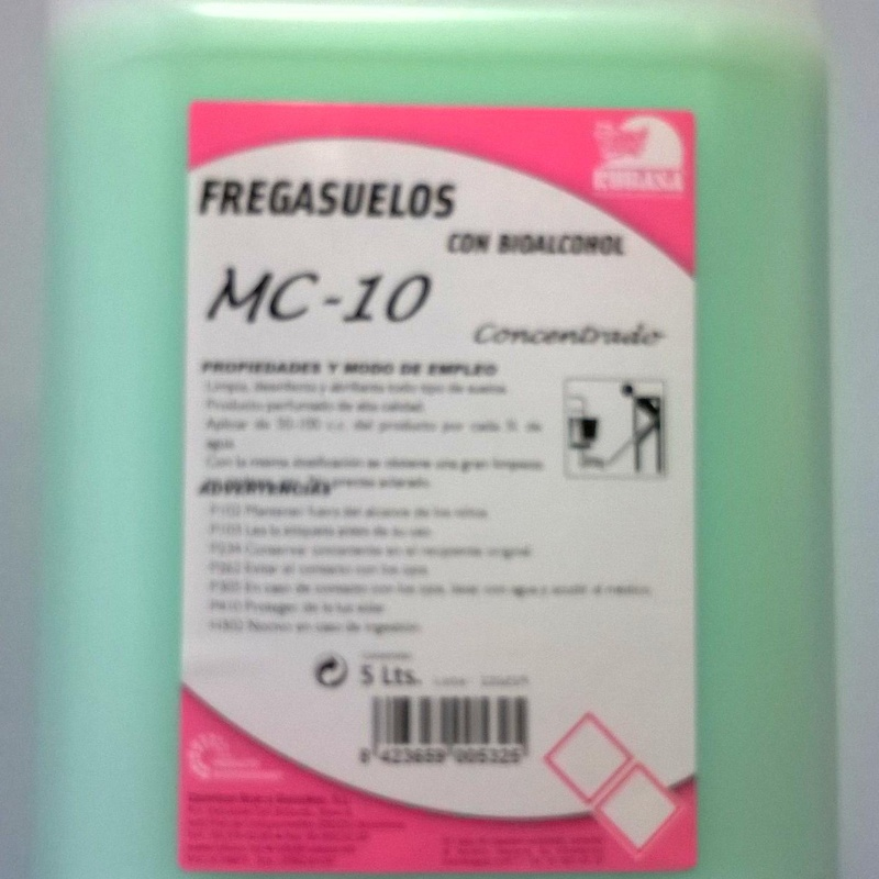Fregasuelos de Marsella con notas verdes MC-10.  5L: SERVICIOS  Y PRODUCTOS de Neteges Louzado, S.L.