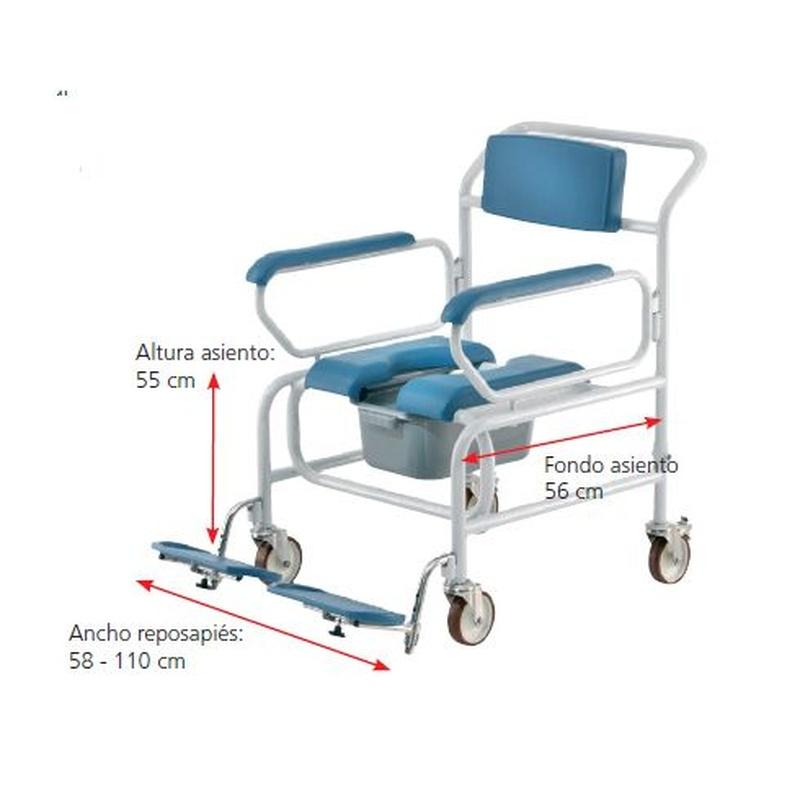 Silla ducha XXL Samoa AD546XL: Productos de Ortopedia Hospitalet
