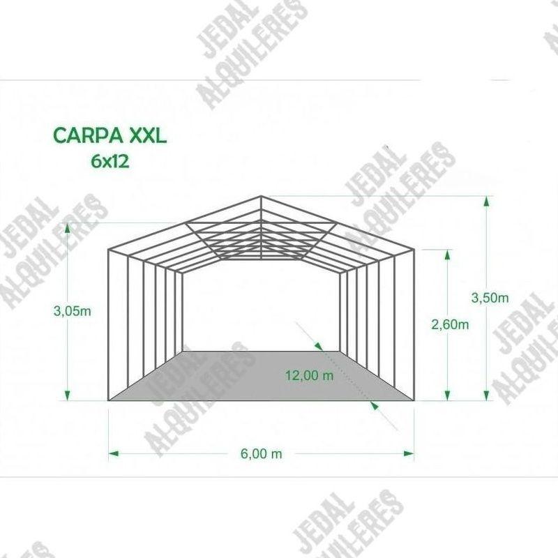 Carpa 6X12 metros reforzada: Catálogo de Jedal Alquileres