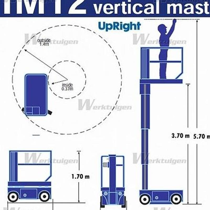 MASTIL VERTICAL ELECTRICO 5,7M.: Catálogo de Eleva Rent