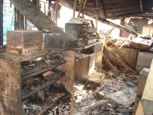 Incendio local restaurante