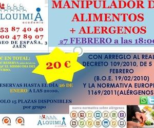 MANIPULADOR DE ALIMENTOS + ALERGENOS 27/02/2019