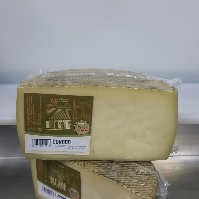 Queso mezcla curado leche cruda Valle Grande medio