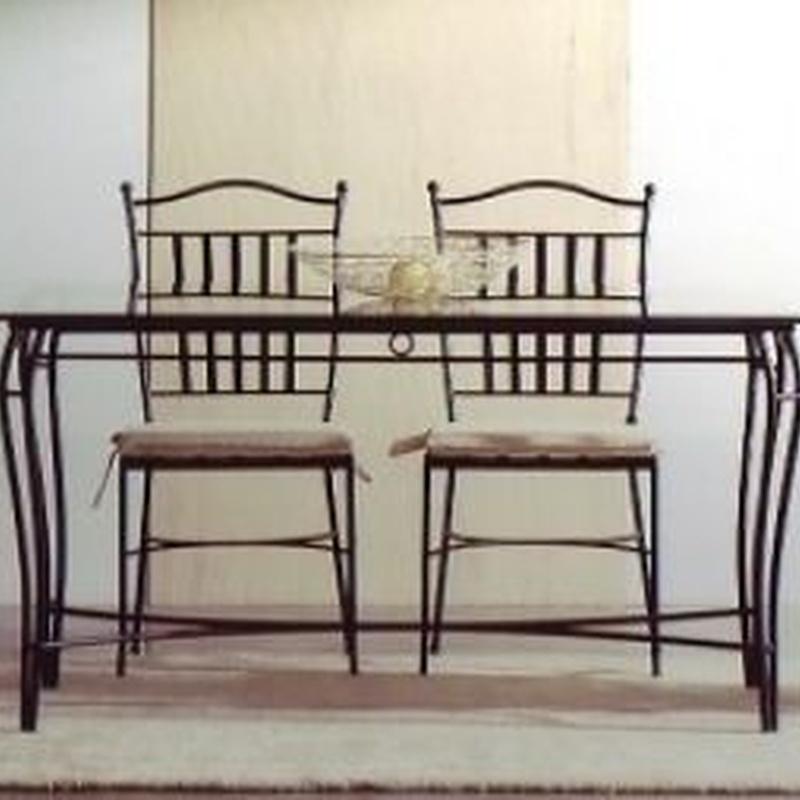 Mesa, silla y sillón Tokio: Catálogo de muebles de forja de Forja Manuel Jiménez