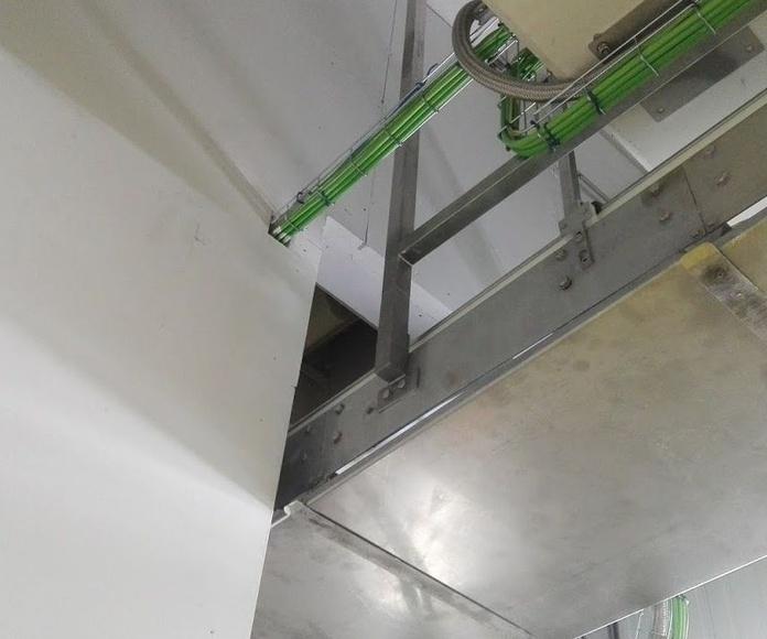 Puerta cortafuegos cinta transportadora