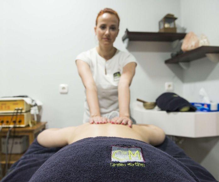 Masajes: Servicios de Centro de Estética Carmen Martínez