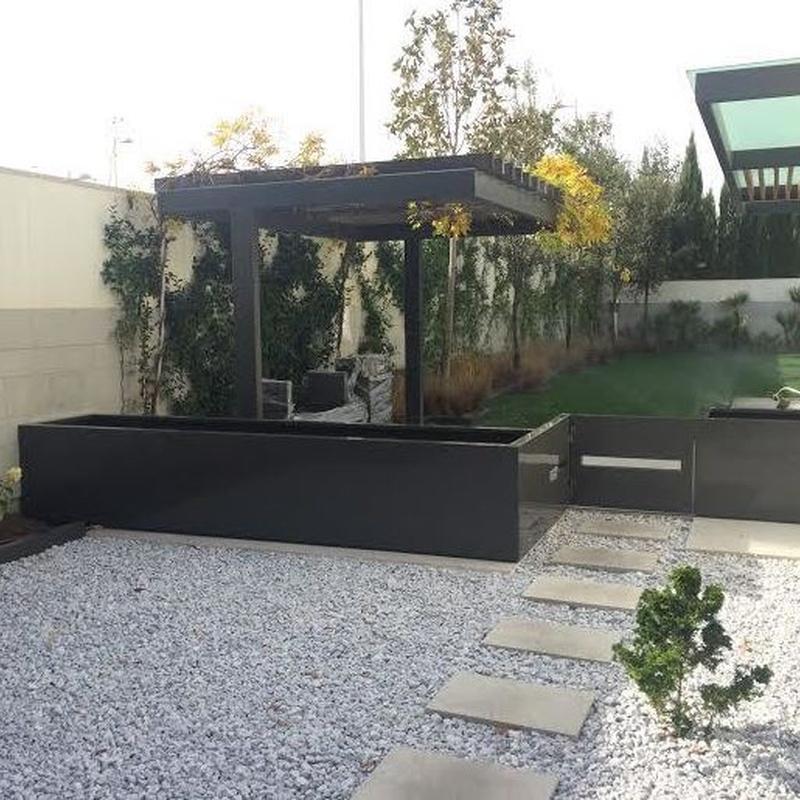 Jardineras metalicas exterior