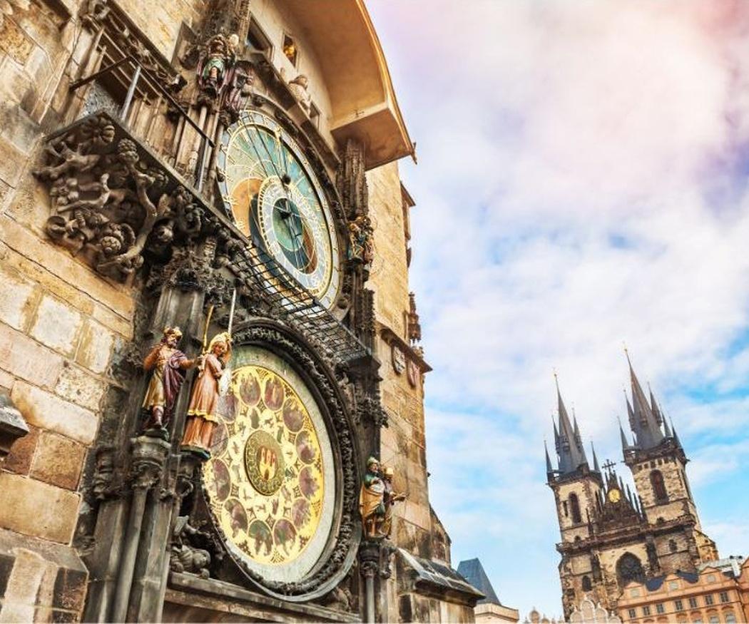 El reloj astronómico de Praga, uno de los más famosos del mundo