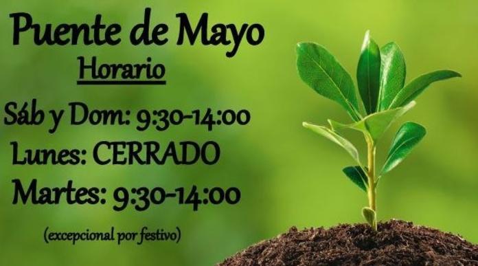 ¡¡ Horario Puente de Mayo !!