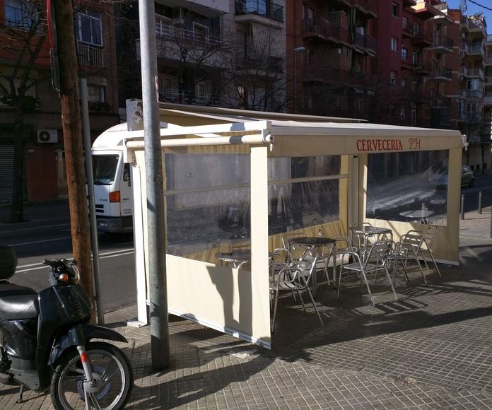 Porterías bares: Servicios de Toldos Novasol