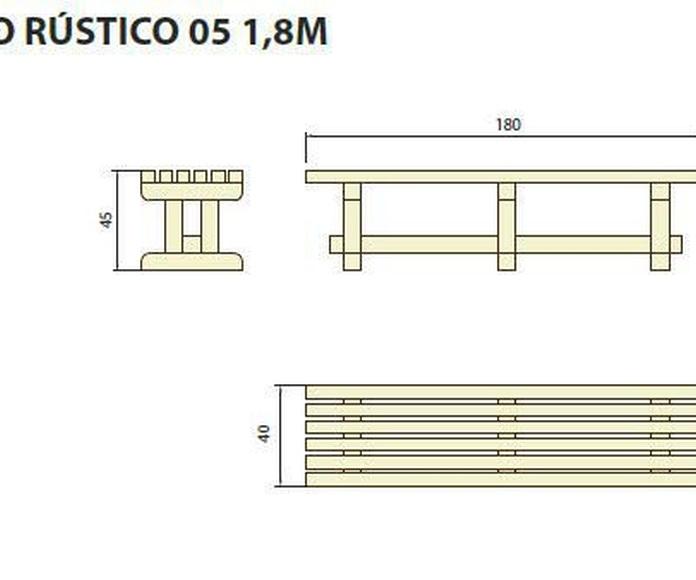 Banco rústico 05 1.8m: ¿Qué podemos ofrecerte? de CM PLASTIK RECYCLING SL