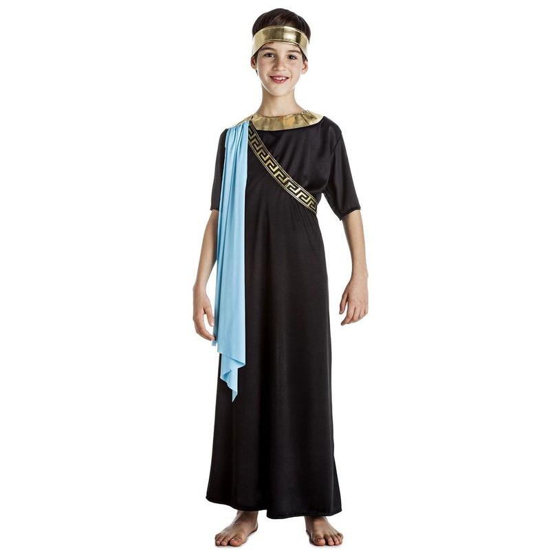 Disfraz senador griego negro infantil