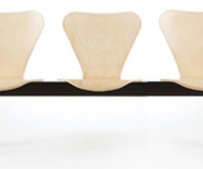 bancada de 3 plazas en madera