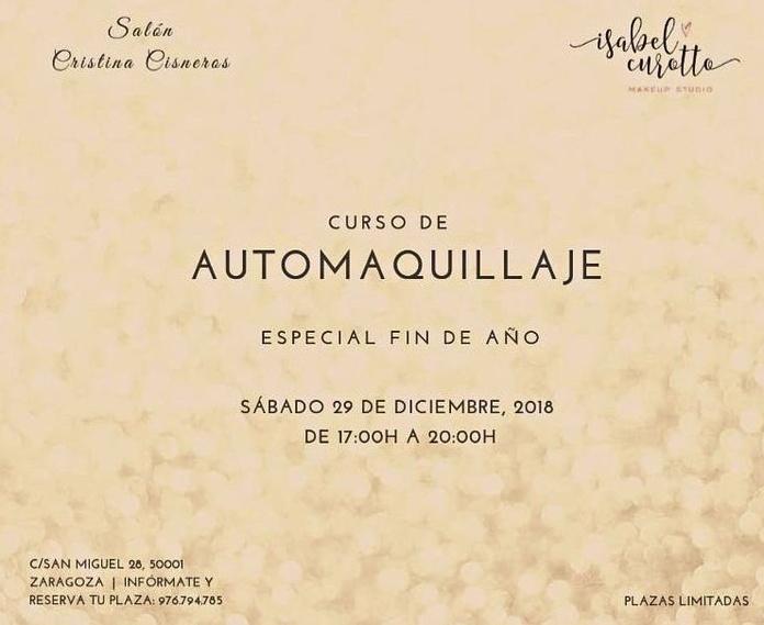 Taller de automaquillaje en Zaragoza especial Noche Vieja