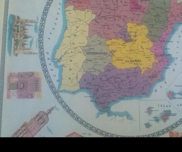 HULE MAPA ESPAÑA