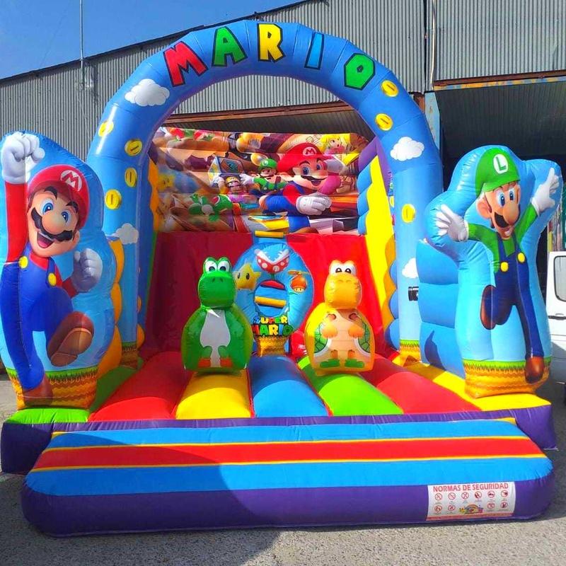 Tobogán Mario Bros Arco Central : Catálogo de Hinchables Happy Jump