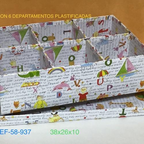 58-937 CAJA 6 HUECOS ALTA LETRAS 37X25X10