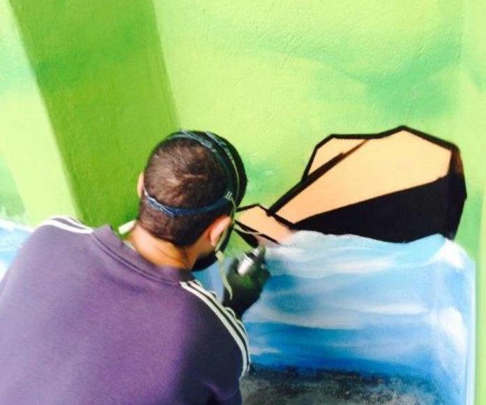 Mural Artístico patio Escuela Infantil