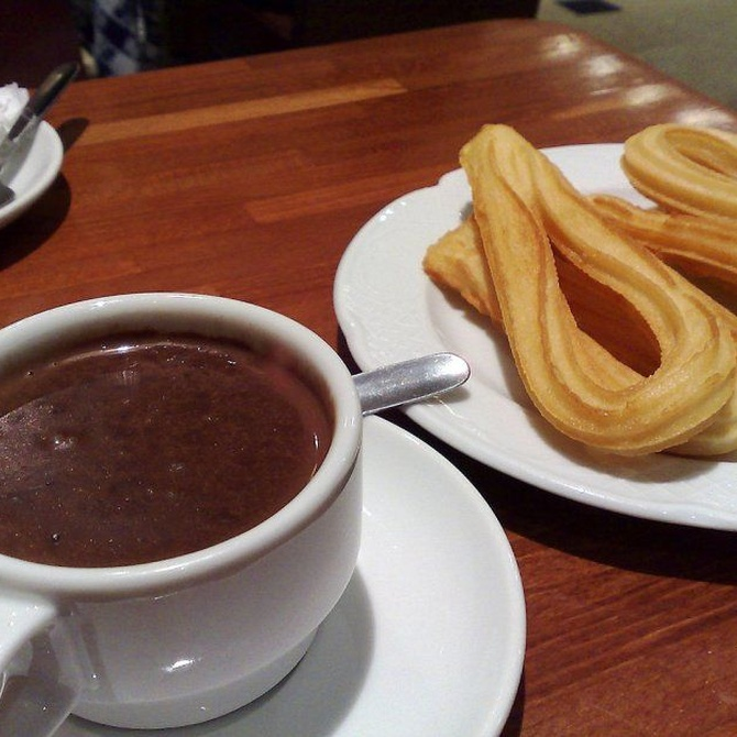 Chocolate con churros, el desayuno más típico