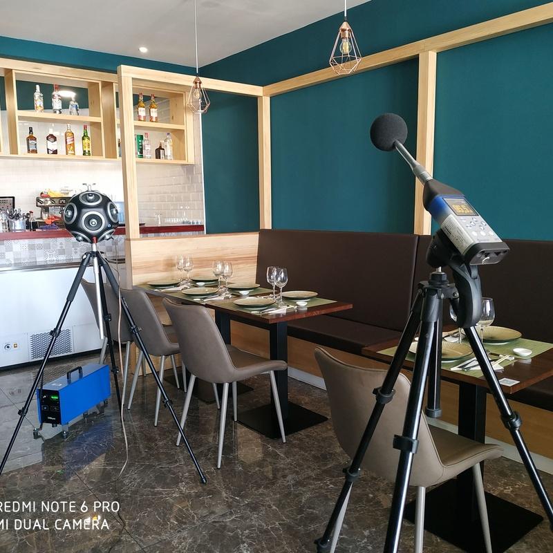Ensayos acústicos en restaurante japonés