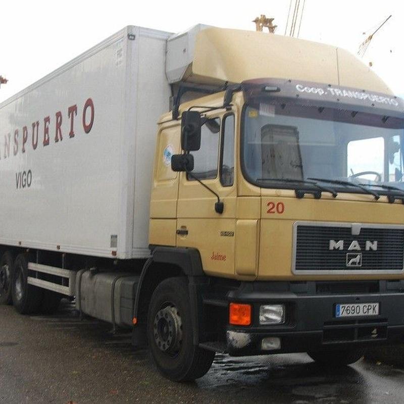 Transporte desde el puerto de Vigo a las factorías: Servicios de Agrupación de Transportes Puerto de Vigo - Cooperativa Transpuerto