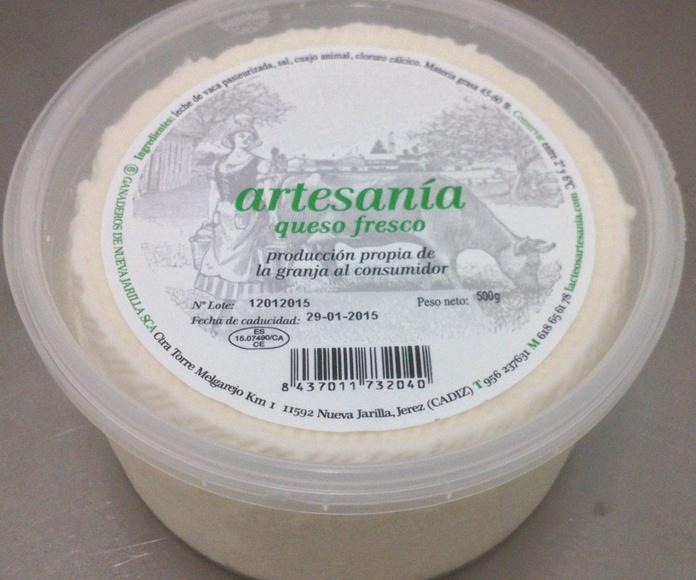 Queso fresco: Nuestros productos de Lácteos Artesanía