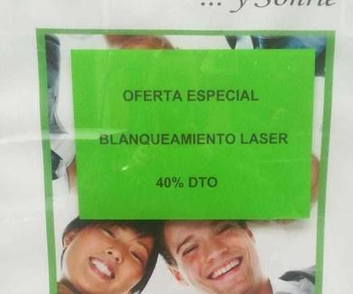 Oferta especial blanqueamiento dental