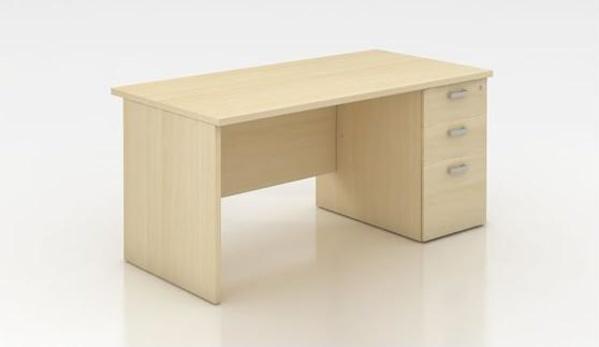 Mesa económica de trabajo y oficina forma  rectangular .Mod. Amba.con cajones