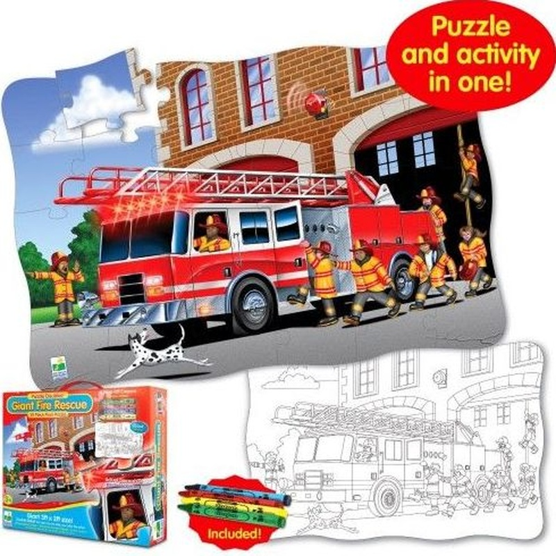 Puzzle de suelo Rescate Bombero. THE LEARNING JOURNEY. B000JMC5L6
