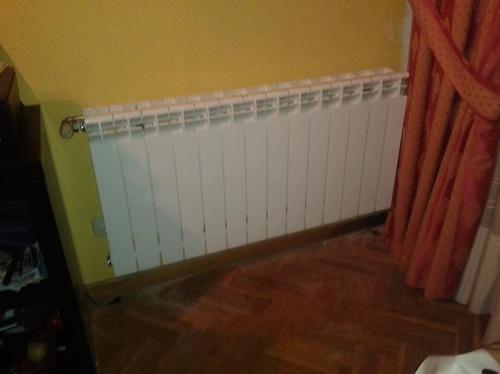 Cambio de radiadores de chapa de dos columnas por radiadores de aluminio