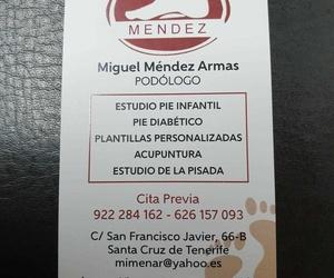 Plantillas y podología Santa Cruz de Tenerife | Miguel Méndez Armas