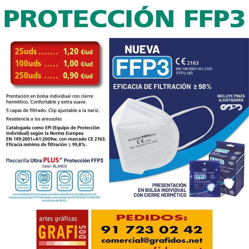 MASCARILLA MAXIMA PROTECCION FFP3
