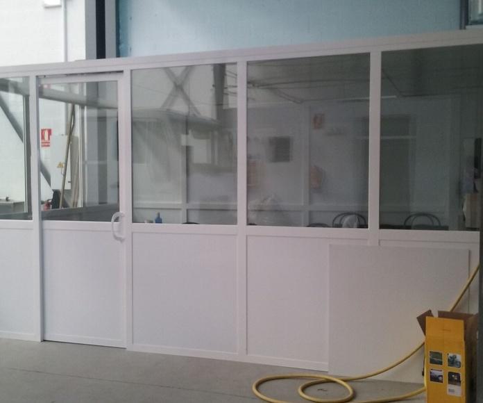 MAMPARAS DIVISORIAS: Servicios de Exposición, Carpintería de aluminio- toldos-cerrajeria - reformas del hogar.