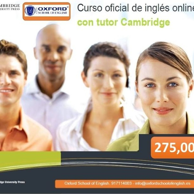 ENGLISH ONLINE FOR ADULTS                                             A1-C1: Cursos de Oxford School of English