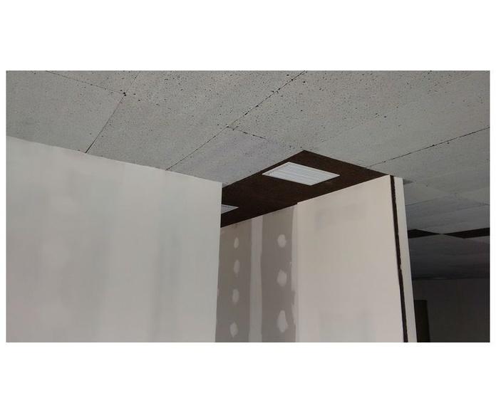 Obra realizada. Aislamiento interior techos