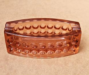 Cenicero rosado de cristal de Murano