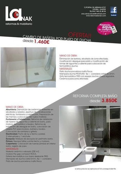 Oferta baños Vitoria
