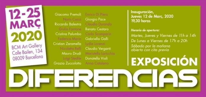 DIFERENCIAS, Exposición aplazada hasta nuevo aviso.
