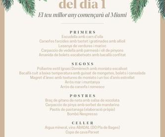 Postres: Carta y Menús de Restaurant Miami