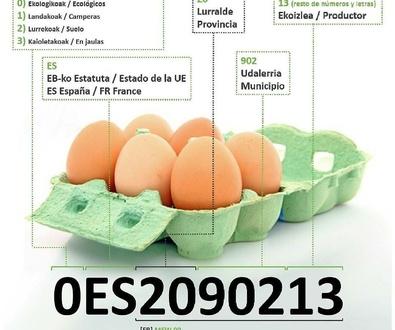 ¿Qué significan los números de los huevos?