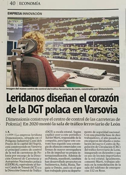 Sala de control centro ferroviario de León - Dimensionis
