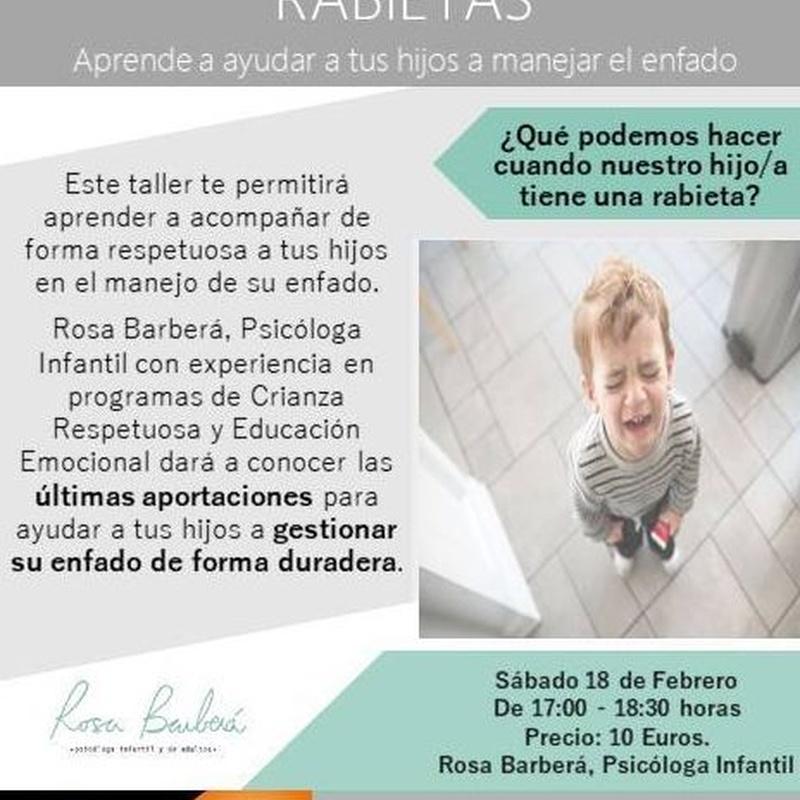 Taller para padres -  Rabietas: Terapias de Wellnes Avenida