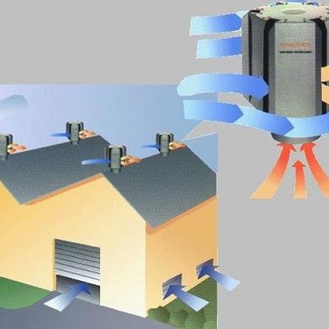 ¿En qué consiste la ventilación natural o estática?