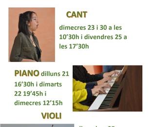 Clases gratuitas de canto i instrumento Setiembre